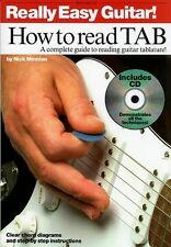 Really Easy Guitar How To Read TAB Learn Play Beginner TAB Music Book & CD NOTES