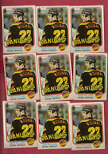 9 X  1981-82 OPC # 345 CANUCKS DAVE TIGER WILLIAMS  CARD