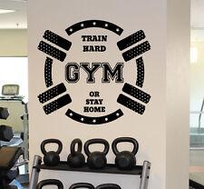 Gym Motivation Wall Decal Train Hard Fitness Vinyl Sticker Wall Art Decor 18fmf