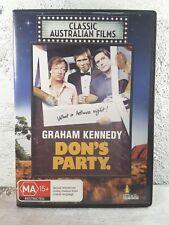 DONS PARTY - 1976 John Hargreaves, Graham Kennedy - DVD - RARE AUSTRALIAN MOVIE