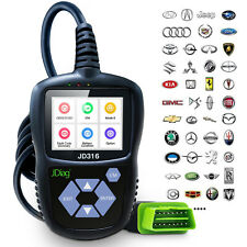 JDiag JD316 Automotive Code Reader Color Screen Mode 6 Powerful OBD2 CAN Scanner