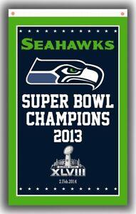 Seattle Seahawks Football Memorable Champions Flag 90x150cm 3x5ft Super banner