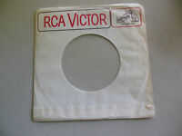 white  RCA VICTOR DOG LOGO WHITE    45 record company sleeve only    45