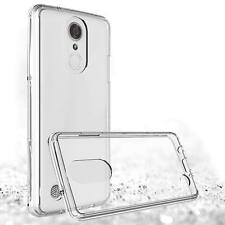 LG Aristo 2 X210 Clear Hybrid Rubber Silicone TPU Protective Case Slim Cover Kit