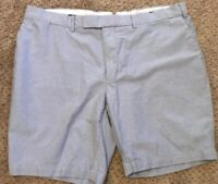 Polo by Ralph Lauren New York All Cotton Light Blue Flat Front Shorts Size 42