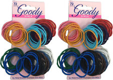 Goody Girls Ouchless Elastic Hair Ties No-metal 144 count Britght Colors 2-Pack