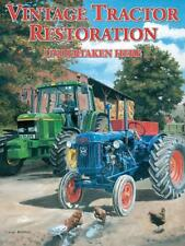 Vintage Tractor Restoration metal wall sign 30cm X 40cm