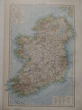 Landkarte von Irland, Lithographie, Andrees 1897