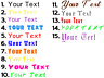 """Custom Text, Vinyl Decal 2"""" up to 25 letters, Personalized decal"""