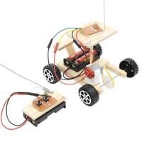 DIY Wireless Remote Control Model Kit Wood Toy Set RC Car Educational Toy