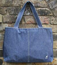 KANGOL VINTAGE 100% COTTON DENIM SHOPPER STYLE SHOULDER BAG MADE IN THE UK