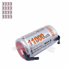 16 pcs D Size 1.2V Volt 11000mAh Ni-MH Rechargeable Battery with tab Ultracell