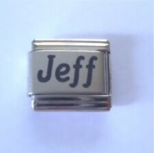 9mm Classic Size Italian Charm  Names Name Jeff