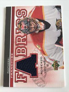 NHL Card,Roberto Luongo,Franchise Fabrics,UD 2004