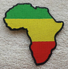 AFRICA MAP PATCH Rastafarian Flag Badge/Emblem Biker Jacket King Selassie Jah