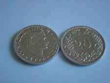 Münzen Schweiz 1903 B Swiss  1 x 20 Rappen 1903  B  Coin Svizzera siehe Bild