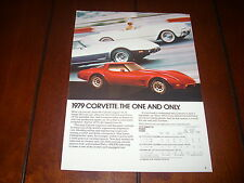 1979 CHEVROLET CORVETTE ***ORIGINAL AD***