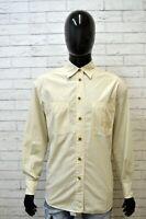 Camicia Uomo TRUSSARDI JEANS Taglia 2XL Polo Cotone Camicetta Shirt Men's Italy