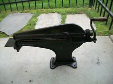 Antique Vintage Rare Nice Working American Leather Cutter Machine St Louis,Mo