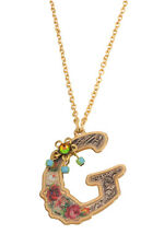 Michal Negrin Shiny Gold Coated G Pendant Necklace #120121410007