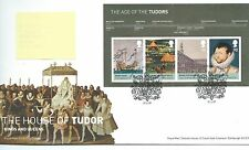 GB - FIRST DAY COVER - FDC - MINI SHEET -2009- HOUSE OF TUDOR - Pmk  LONDON