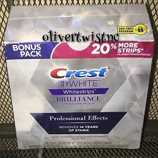 Crest 3D Whitestrips BRILLIANCE PROFESSIONAL EFFECTS  48 Strips MAR18 IN BOX NEW