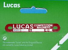Lucas bouclier sur zündmagnet Red magnéto Label k2fc anticlock w10434 TRIUMPH TWIN