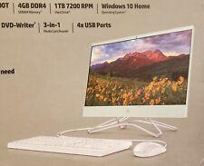 "HP 22 All In One 22"" Display, Intel Celeron G4900T 2.9 GHz, 4GB Ram PC, 1 TB HDD"