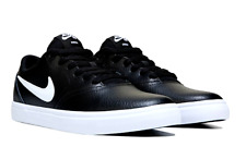 Nike SB Check Solar Mens Womens Black White Leather Shoes Brand New Size UK 7