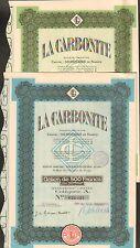 2 titres: LA CARBONITE (GENNEVILLIERS) (J)
