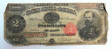 1891 $2 Large Size Us Treasury McPherson Note Paper Money Currency ~ Good
