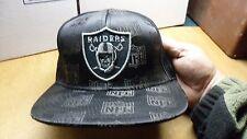NFL Oakland Raiders Reebok Fitted Hat Cap Size 7 1/2 Black