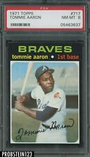 1971 Topps #717 Tommie Aaron Braves PSA 8 NM-MT