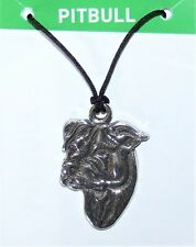 "Pitbull ""All About My Dog"" Pewter Necklace - Made in USA by EcoSmart Designs"