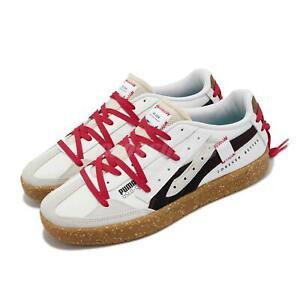 Puma Oslo-City Re.Gen White Red Khaki Men Casual Lifestyle Shoes 375859-01