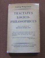 TRACTATUS LOGICO PHILOSOPHICUS Ludwig Wittgenstein -1st HCDJ 1958 - Philosophy
