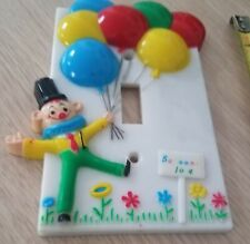 Clown Switch Plate Dolly Toys 1973 Vintage Balloons