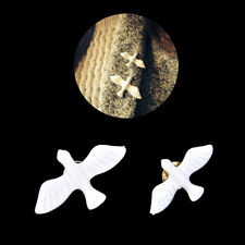 Women Stylish White Peace Dove Shirt Collar Buckle Bird Brooch Pin Xmas Gift LC