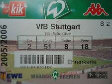 TICKET 2005/06 SV Werder Bremen - VfB Stuttgart