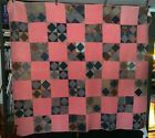 Antique C1880 Quilt Hand Pieced + Quilted Nice Variety of Period Calico Prints