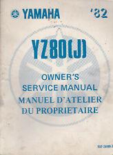 Yamaha YZ80J 1982 Owner's Service Manual 5X2-28199-70