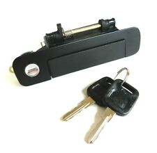 AUDI 80 100 200 BLACK RIGHT OUTER DOOR HANDLE WITH LOCK AND KEY 893837208/443.8