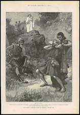 1890-ANTIQUE PRINT Fine Art Merveilleux Aventures Phra phénicien Paget (164)