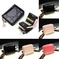 NEW Women Leather Short Wallet Credit Cards Holder Clutch Organizer Coin Purse B