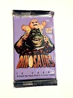 VTG PRO SET DINOSAURS WALT DISNEY 1992 TV SHOW UNOPENED WAX PACK FROM BOX