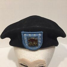 Wool BERET 10th CAVALRY REGIMENT READY AND FORWARD Military BUFFALO SOLDIERS