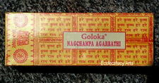 Goloka Nag Champa Incense Sticks 2 x 100 gram, 200 gm Total Premium Quality {:-)