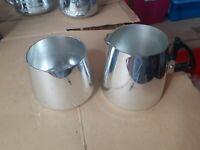 Vintage Sona Chrome Milk Jug and Sugar Bowl r163