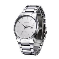 CURREN Jahrgang Armbanduhren einfache Dial Plate Edelstahl Uhren mit P3T1