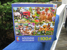 CEACO KIDS 4 In 1 ADORABLE ANIMAL JIGSAW PUZZLES - 100 PCS EACH NO. 3101-1